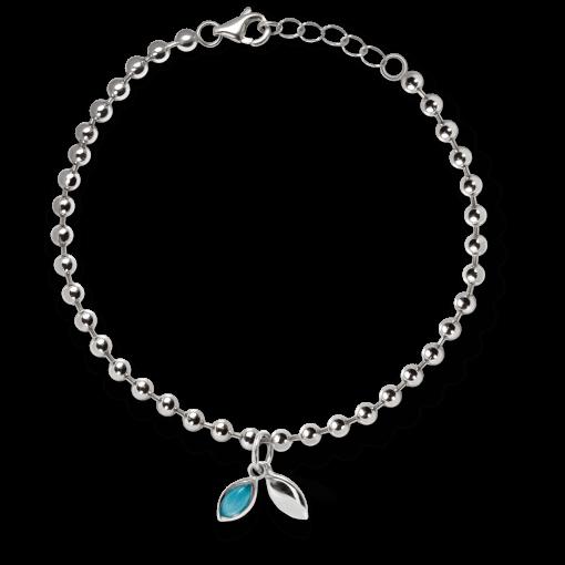 Beaded Drop Charm Blue Turquoise Bracelet